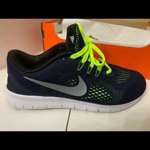Nike Free Run Blue and Yellow